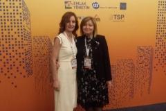 Doc. Dr. Yeşim TANRIVERMİŞ ile Genel Müdür Yardımcımız Dilek ÖNAL Uluslararası Tesis Yönetimi Konferansı'nda bir araya geldiler.